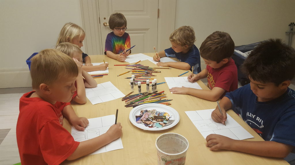 School groups have the opportunity to have a hands-on activity