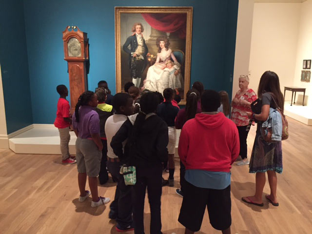 Students tour the Gibbes permanent collection with a Museum Educator.