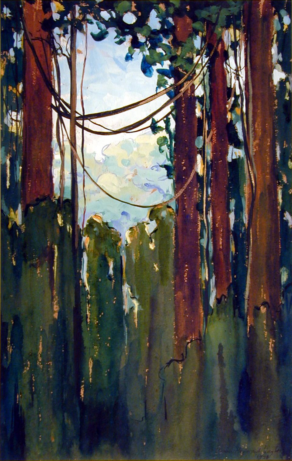 Untitled (Guiana Jungle), 1921, by Anna Heyward Taylor