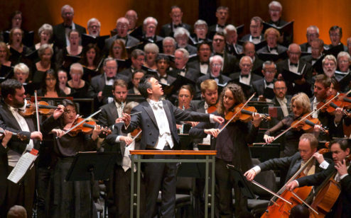 CSO Music Director Ken Lam with the Charleston Symphony Orchestra.