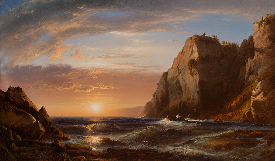 Sunrise at Grand Manan, 1861, by William Hart