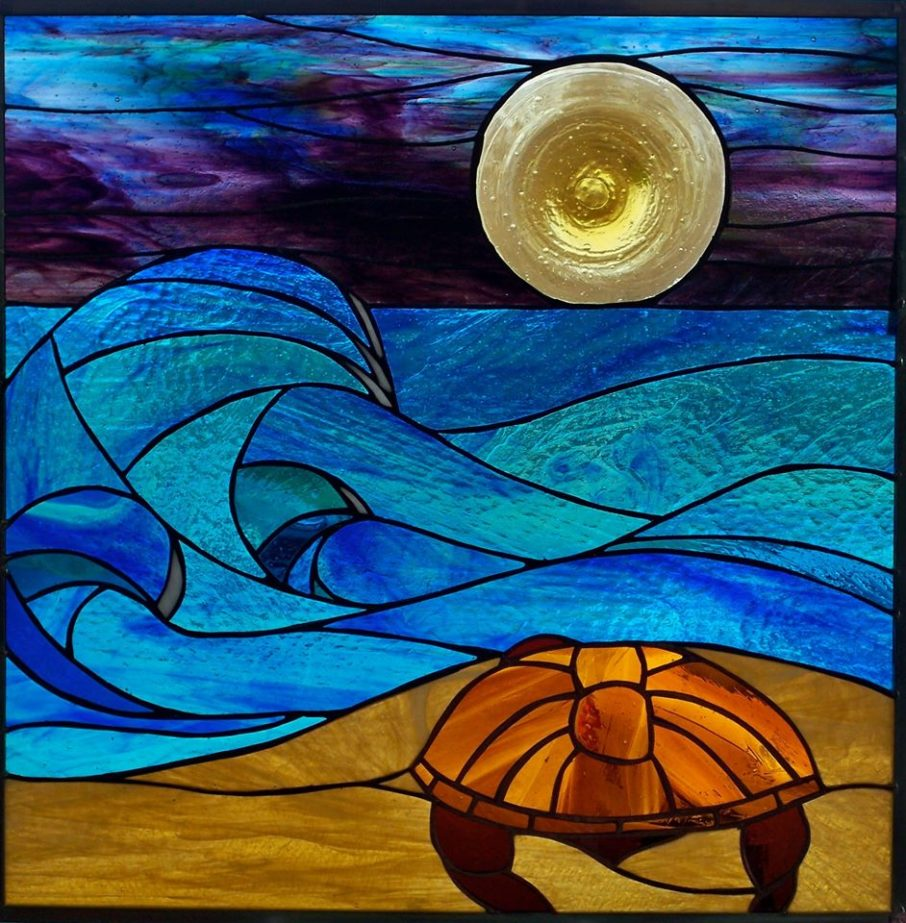 Stained glass panel by Becca Hiester