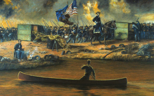 Sherman Marches South, 1990, by Manning Bethea Williams Jr.