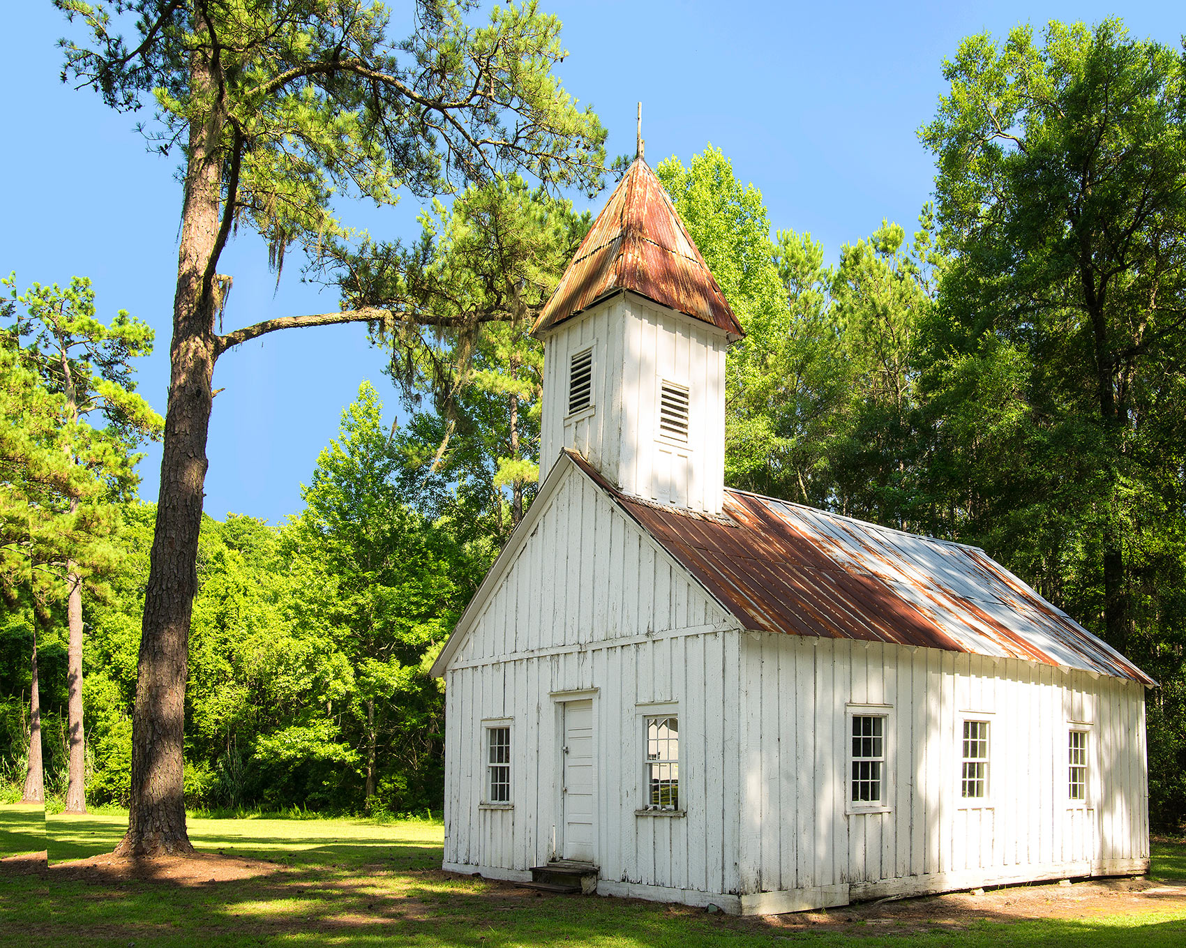 A wooden church in Friendfield Village