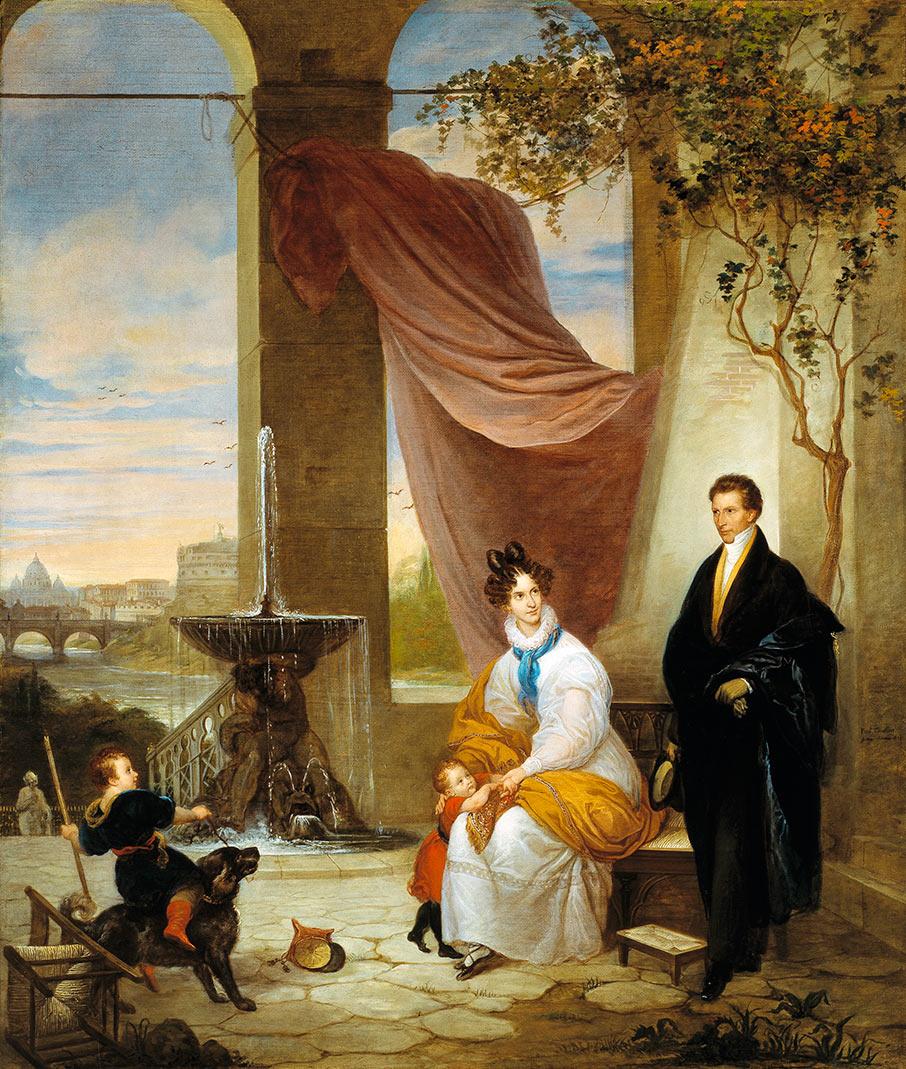 Charles Izard Manigault and His Family in Rome, 1831, by Ferdinando Cavalleri