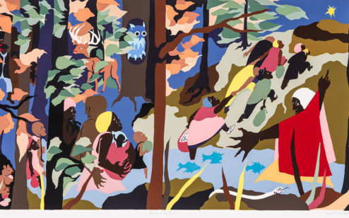 Forward Together, 1997, by Jacob Lawrence;
