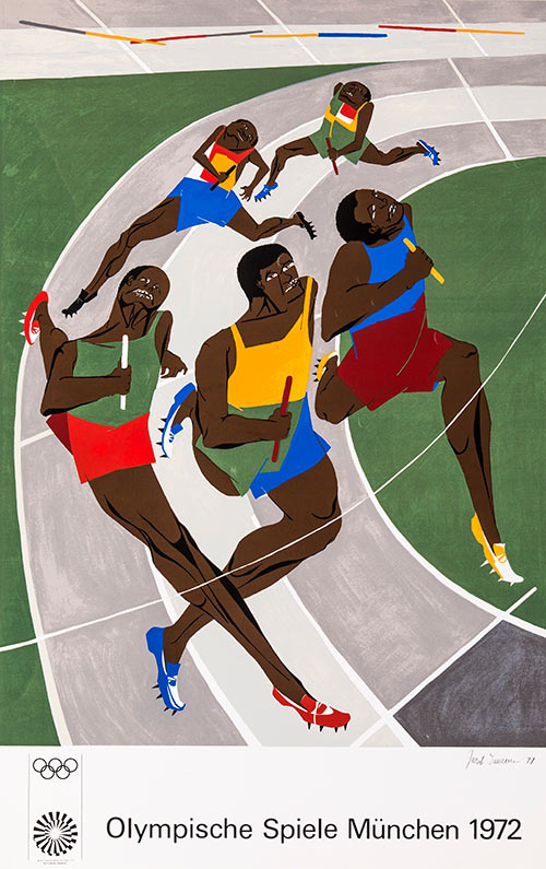 Olympic Games, 1971, by Jacob Lawrence
