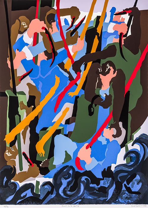 Revolt on the Amistad, 1989, by Jacob Lawrence