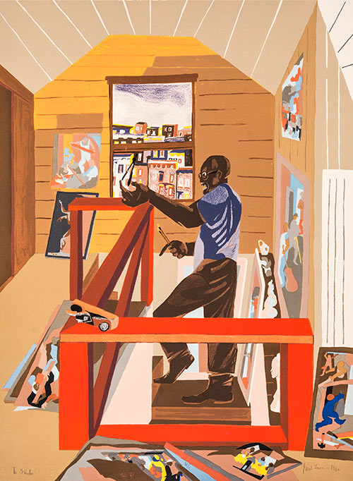 The Studio, 1996, by Jacob Lawrence