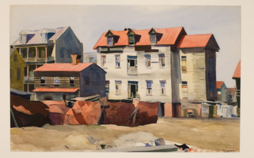 Charleston Slum (54, 56, and 61 Washington Street), 1929, by Edward Hopper (American, 1882–1967)