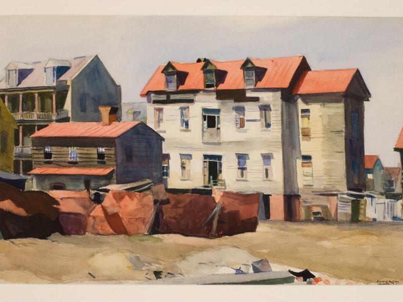 Charleston Slum (54, 56, and 61 Washington Street), 1929, by Edward Hopper (American, 1882–1967)