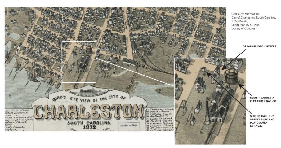 Bird's Eye View of the City of Charleston, South Carolina, 1872