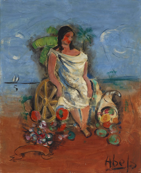 Mujer (Woman), Late 1920s, by Eduardo Abela (Cuban, 1889 – 1965)