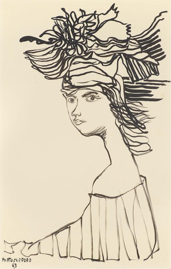 Untitled, 1963, by René Portocarrero (Cuban, 1912 – 1985)
