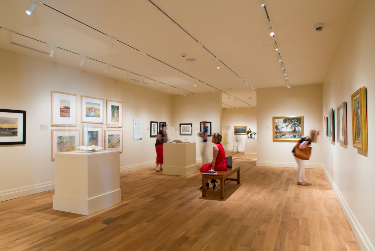 Visitors in the Charleston Renaissance gallery.