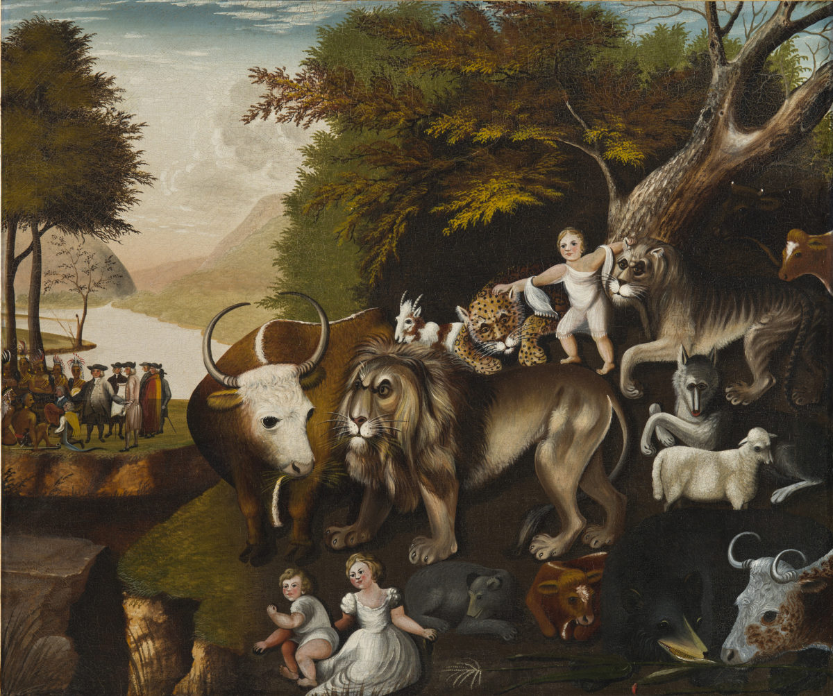 The Peaceable Kingdom attributed to Edward Hicks