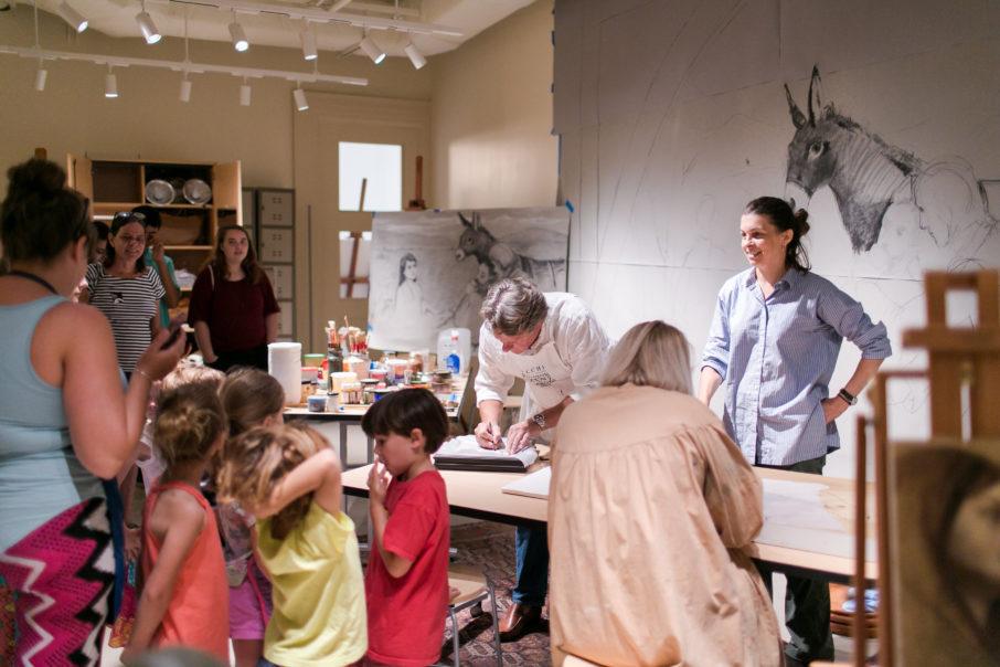 Visiting Artist Jill Hooper at the Gibbes