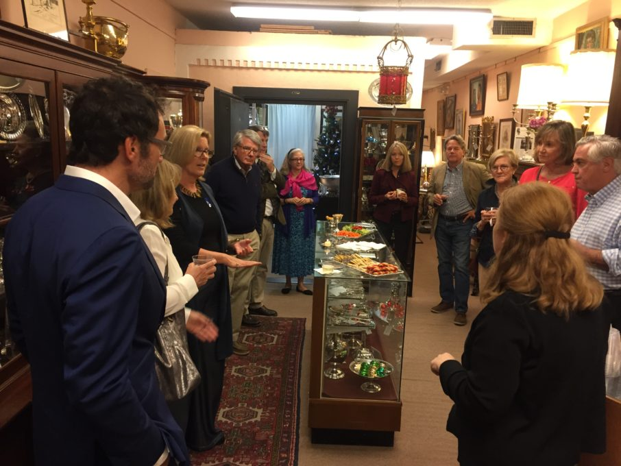 While browsing some of Charleston's finest antique shops,, like the Silver Vault shown above, visitors have a chance to learn from experts in interior design, antiques, and decorative arts.