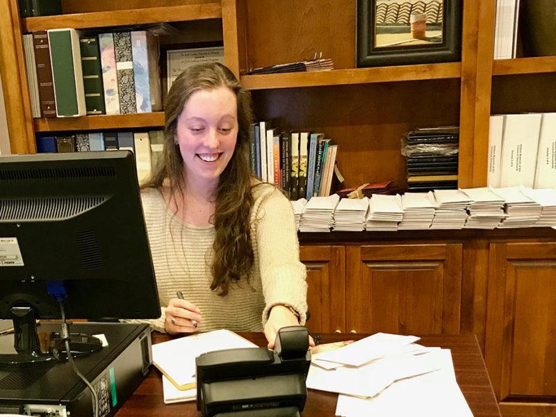 Megan Hoffman amidst membership renewal reminders