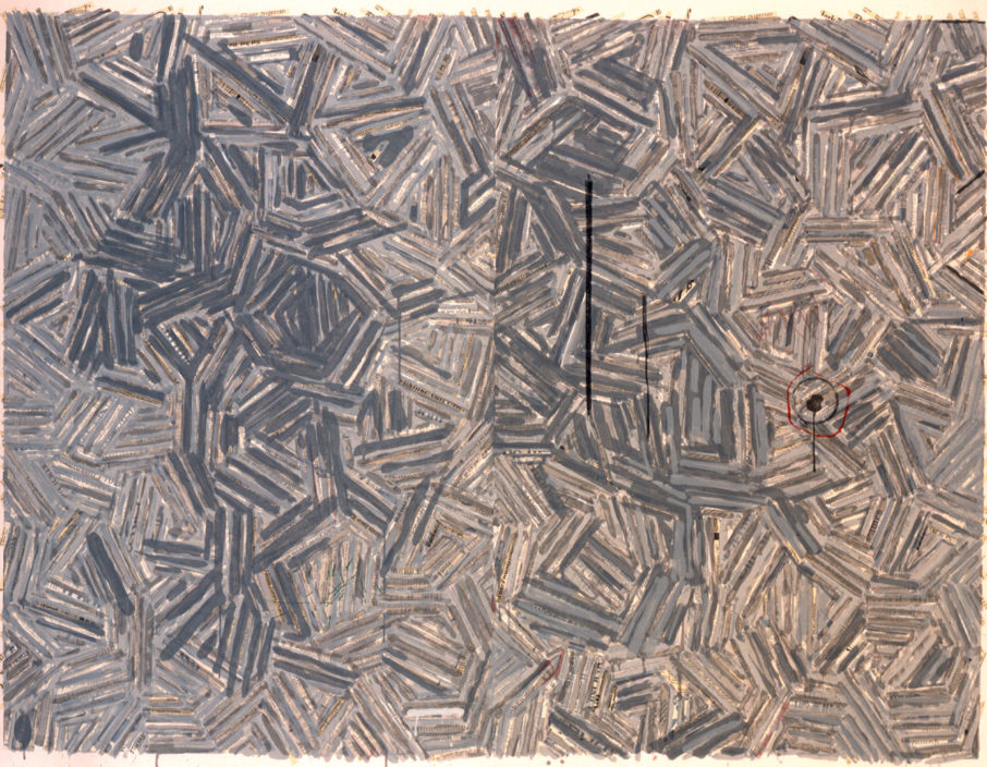 Chaz's favorite work in the collection is The Dutch Wives by Jasper Johns. The Dutch Wives, 1977, by Jasper Johns (American, b. 1930); Silkscreen on paper; 43 x 56 inches; Gift of Donald and Maria Cox; 1997.012.0001