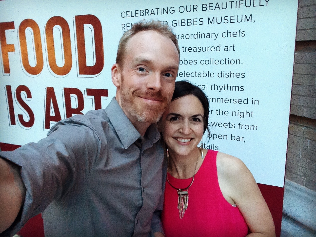 Erin and her co-illustrator and husband, Timothy Banks, snap a selfie before the 2017 Gibbes on the Street.