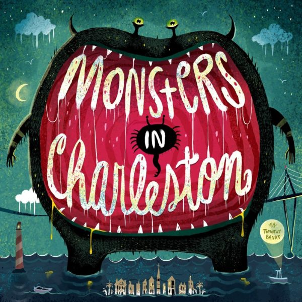 """Erin's husband, Timothy Banks, recently illustrated """"Monsters in Charleston"""" which can be found in the Museum store and showcases many of their family's favorite parts of Charleston."""
