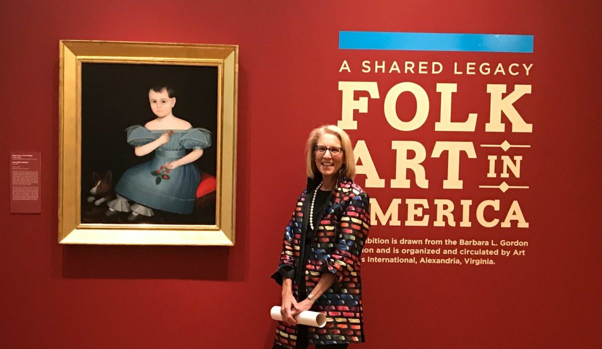 Folk art collector Barbara Gordon at a previous opening of A Shared Legacy.