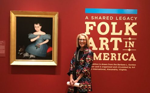 Folk art collector Barbara Gordon at a previous opening of A Shared Legacy.
