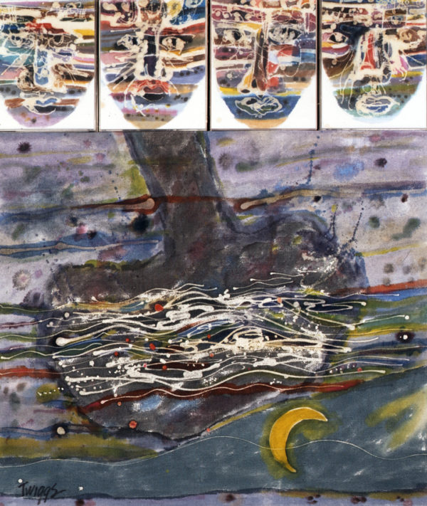 We Have Known Rivers, 1992, by Leo Twiggs; batik; 40 x 34 ½ inches; courtesy of the artist.