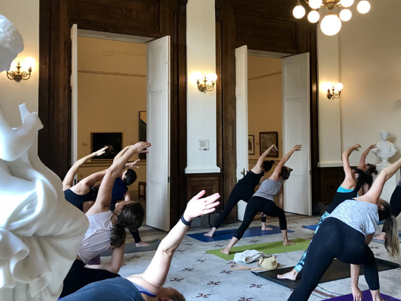 Join us one Friday each month for our new series, Yoga in the Rotunda.
