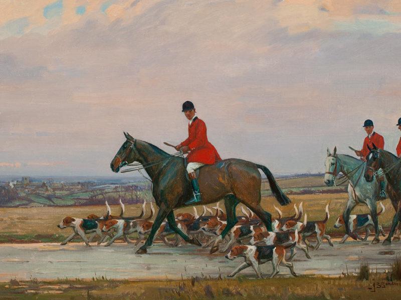 Jogging Home, c. 1920, By John Sanderson Wells (British, 1872 – 1943)