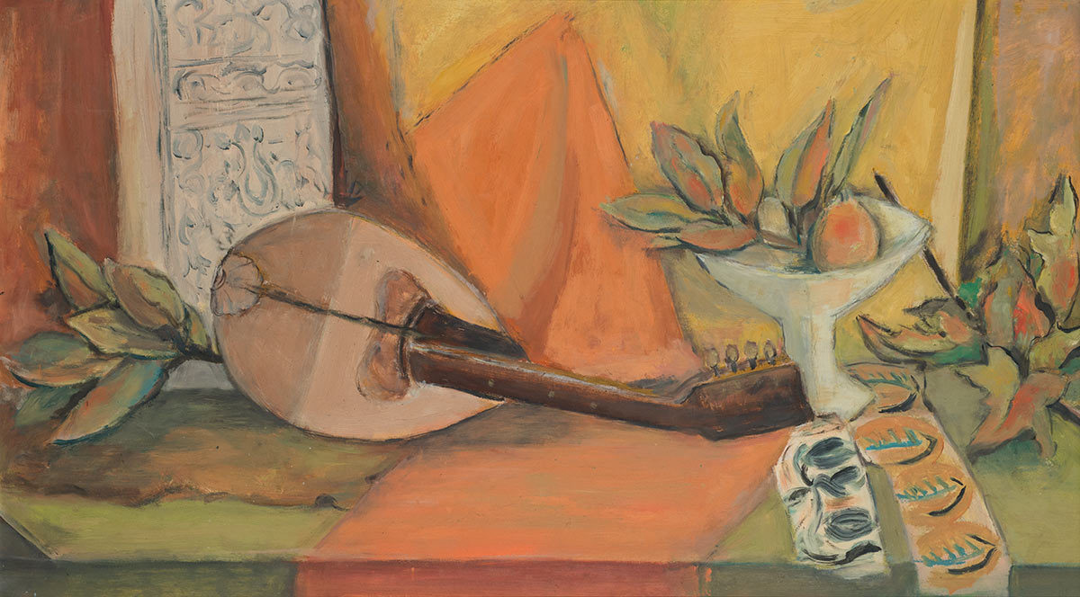 Still Life with Mandolin, ca. 1955, by Alma Woodsey Thomas