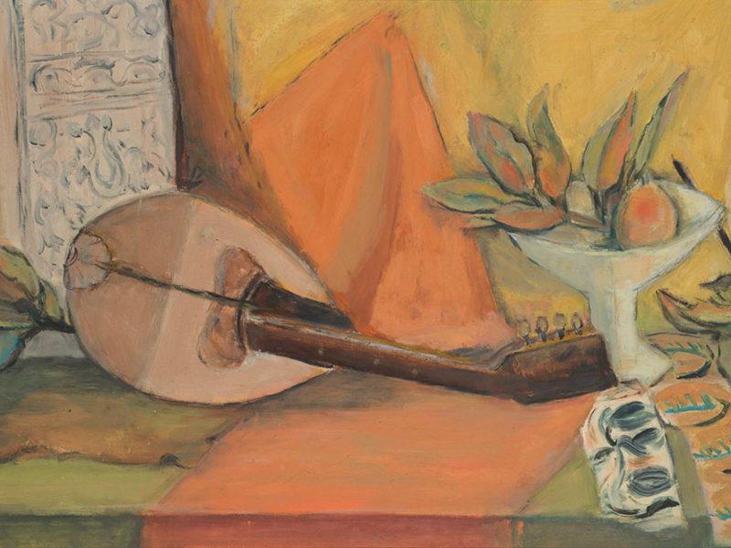 Still Life with Mandolin, ca. 1955, by Alma Woodsey Thomas