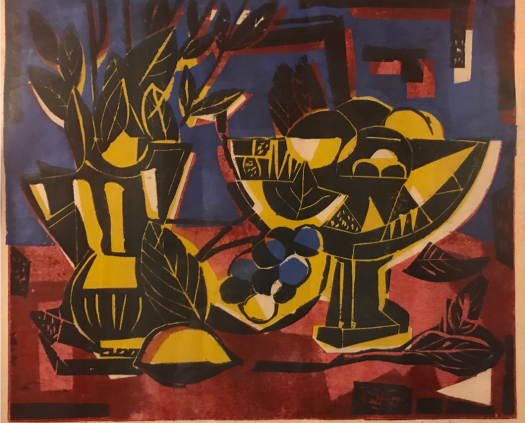 Red Table Still Life, 15/16, 1959, by David Driskell