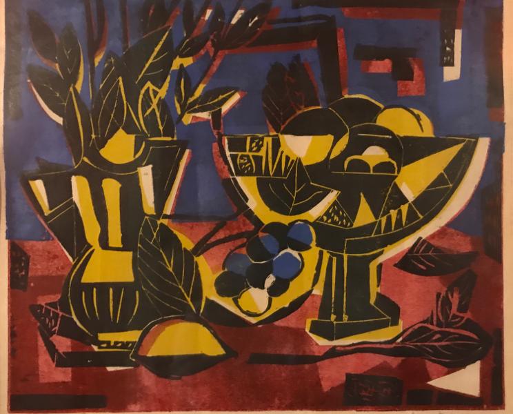 Red Table Still Life, 15/16, 1959, by David Driskell