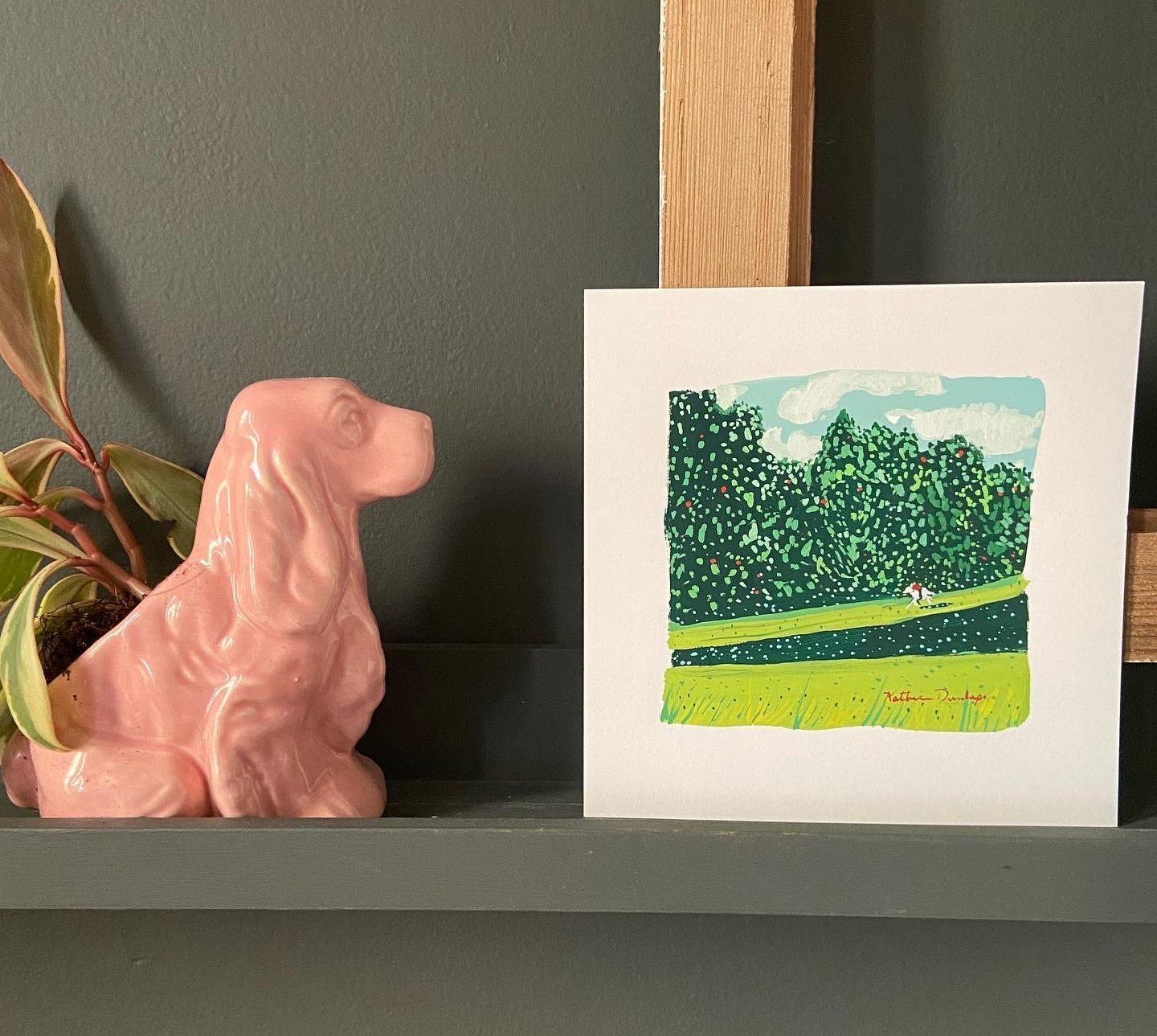 Art Wall with print by Katherine Dunlap