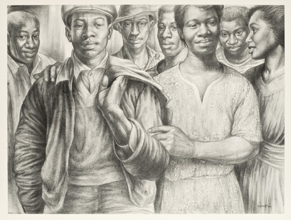 Let's Walk Together, 1953, By Charles Wilbert White