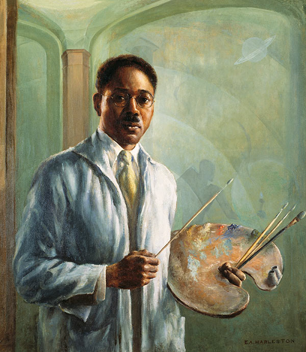Edwin Harleston, Portrait of Aaron Douglas, 1930, oil on canvas. (Gibbes Museum of Art)