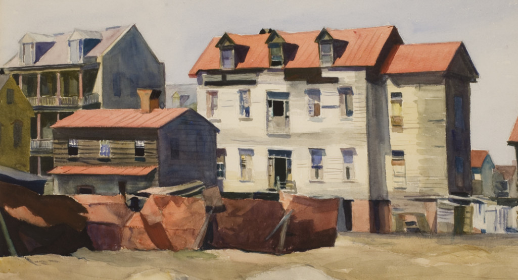 <i>Charleston Slum (detail)</i>, 1929, By Edward Hopper (American, 1882-1967), Watercolor on paper, 16 x 24 inches, Private collection