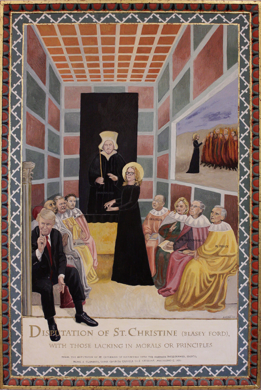 The Disputation of St. Christine (Blasey Ford), after Masolino-  2019