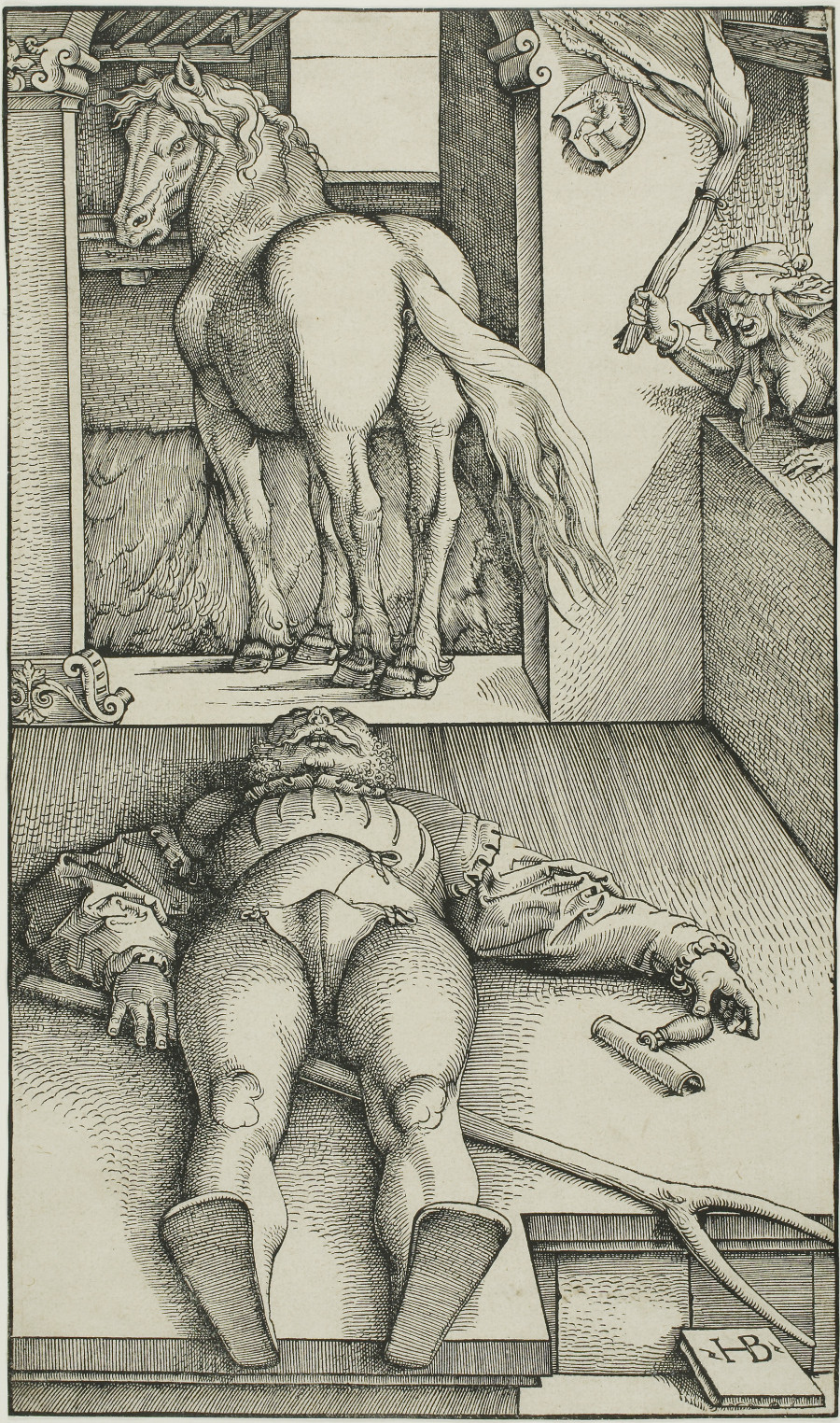 The Bewitched Groom, ca. 1544; By Hans Baldung Grien (German, 1475-1545); Woodcut on ivory laid paper, 13 3/8 x 7 7/8 inches; Courtesy of a private collection