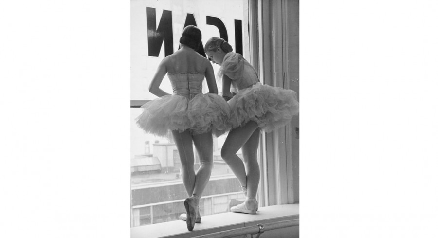 Ballerinas, the Balanchine School of American Ballet Theater, New York, 1936, By Alfred Eisenstaedt (German-American, 1898 - 1995); Published in Life magazine December 1936; Gelatin silver print; Gift of Mr. Robert W. Marks