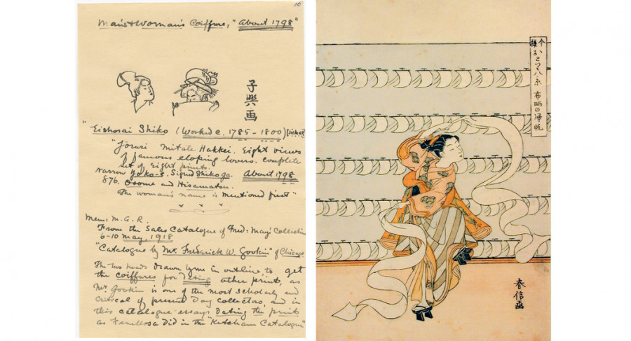 Left: Page from Motte Alston Read journal