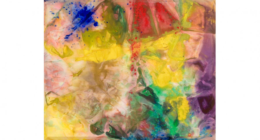 <i>Zoo Again</i>, 1972, by Sam Gilliam (b. 1933); oil on raw canvas