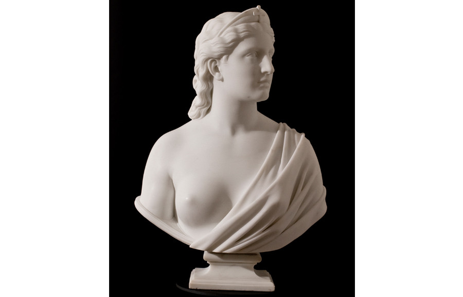 <i>Faith</i>, ca. 1866, by Hiram Powers (American, 1803-1873); marble