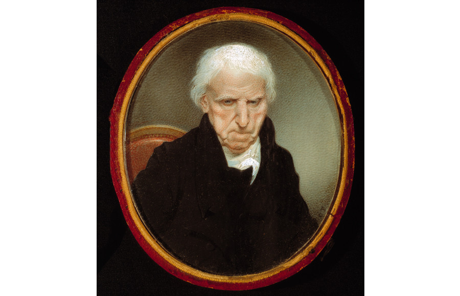 <i>H. F. Plowden Weston (1738-1827)</i>, by Charles Fraser (American, 1782-1860); watercolor on ivory; 3 7/8 x 3 1/4 inches; Museum purchase with funds provided by the Eliza Huger Kammerer Fund in memory of Helen Gardner McCormack; 1974.004