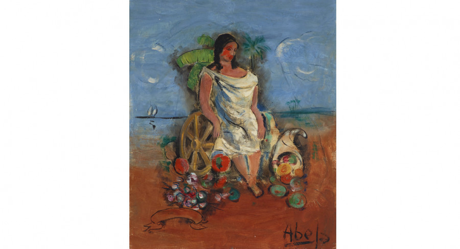 <i>Mujer (Woman)</i>, Late 1920s, by Eduardo Abela (Cuban, 1889 - 1965); Oil on canvas; 32 x 27 5/8 inches; Courtesy of the Lowe Art Museum, University of Miami.