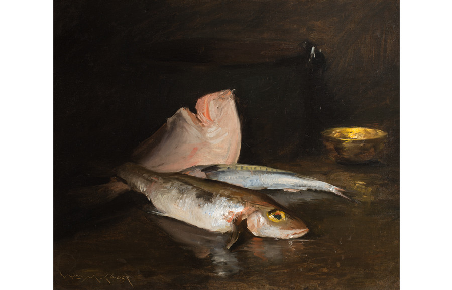 <i>Still Life with Fish</i>, 1903, by William Merritt Chase (American, 1849-1916); oil on canvas; 25 5/8 x 30 1/4 inches; Gift of Anna Heyward Taylor; 1947.011.0001