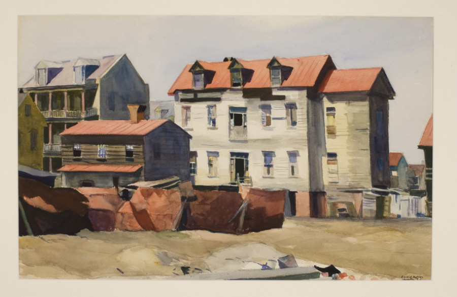 <i>Charleston Slum</i>, 1929, By Edward Hopper (American, 1882-1967), Watercolor on paper, 16 x 24 inches, Private collection