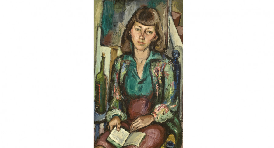 <i>Corrie McCallum</i>, 1940, by William Halsey (American, 1915-1999); oil on canvas; 39 1/2 x 23 1/2 inches; Gift of Corrie McCallum Halsey; 2004.013.